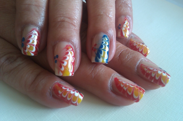 As Well As Nail Art Marbling Without Water In Addition Marble Nail Art