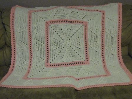 Cable afghan, free knitting pattern.