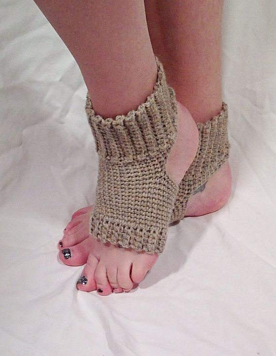Crochet Yoga Socks : Natural Wool Crochet Yoga Socks by DapperCatDesigns on Etsy, $22.00
