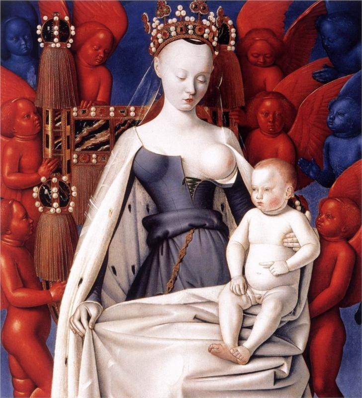 Virgin and Child - Jean Fouquet - 1445