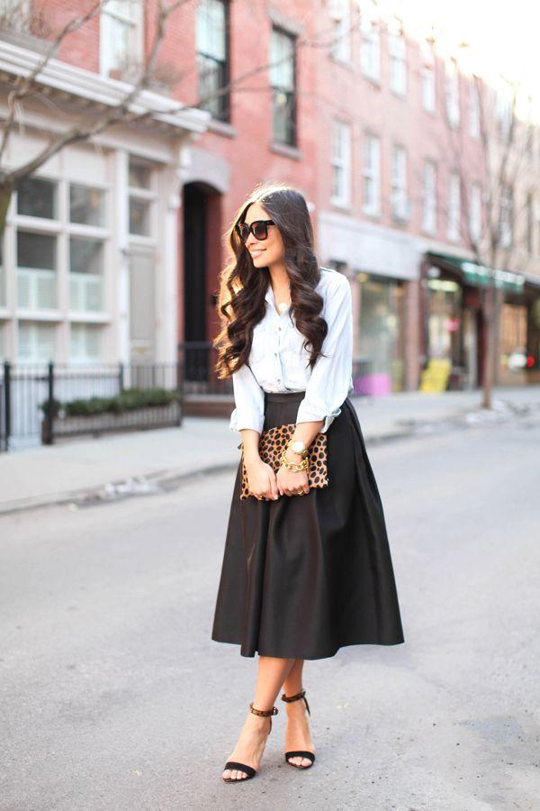 midi skirt on girl for granted