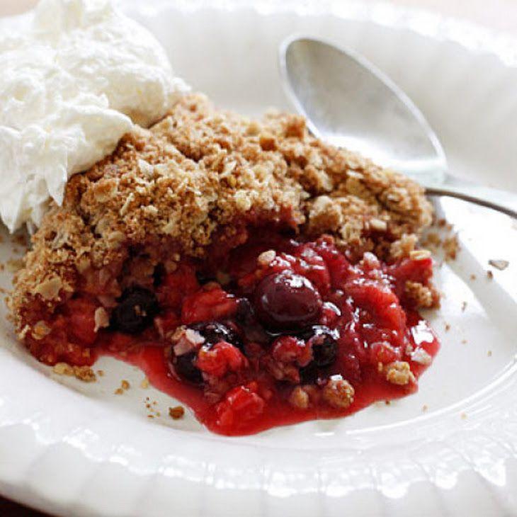 Triple Berry Crisp Recipe. Yumm!! | FOOD!!! | Pinterest
