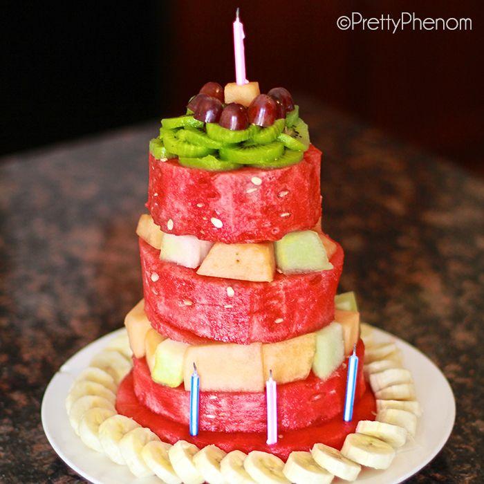 Easy Birthday Cake Made of Fruit - Pretty Phenom