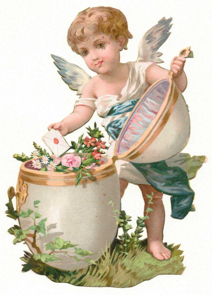 Glanzbilder - Victorian Die Cut - Victorian Scrap - Tube Victorienne - Glansbilleder - Plaatjes : Osterengel - easter angel -pâques ange - Glanzbild - Victorian Cie Cut - tube victorienne - victorian clipart