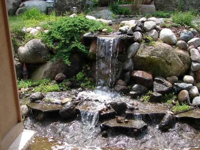 Tall Waterfall Diy Grotto Waterfall Pond Pool Pinterest