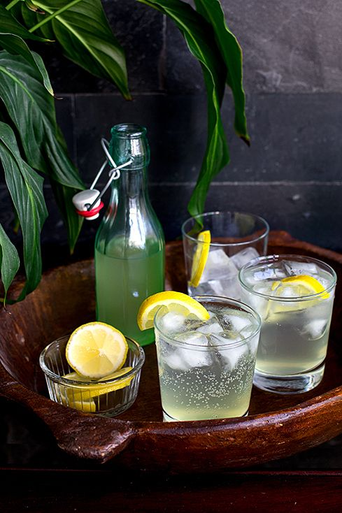 Lemongrass, Lime Leaf and Ginger Cordial : from 'the patterned plate'