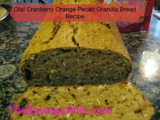 Ola! Cranberry Orange Pecan #Granola #Bread #Recipe | The Savings Wife