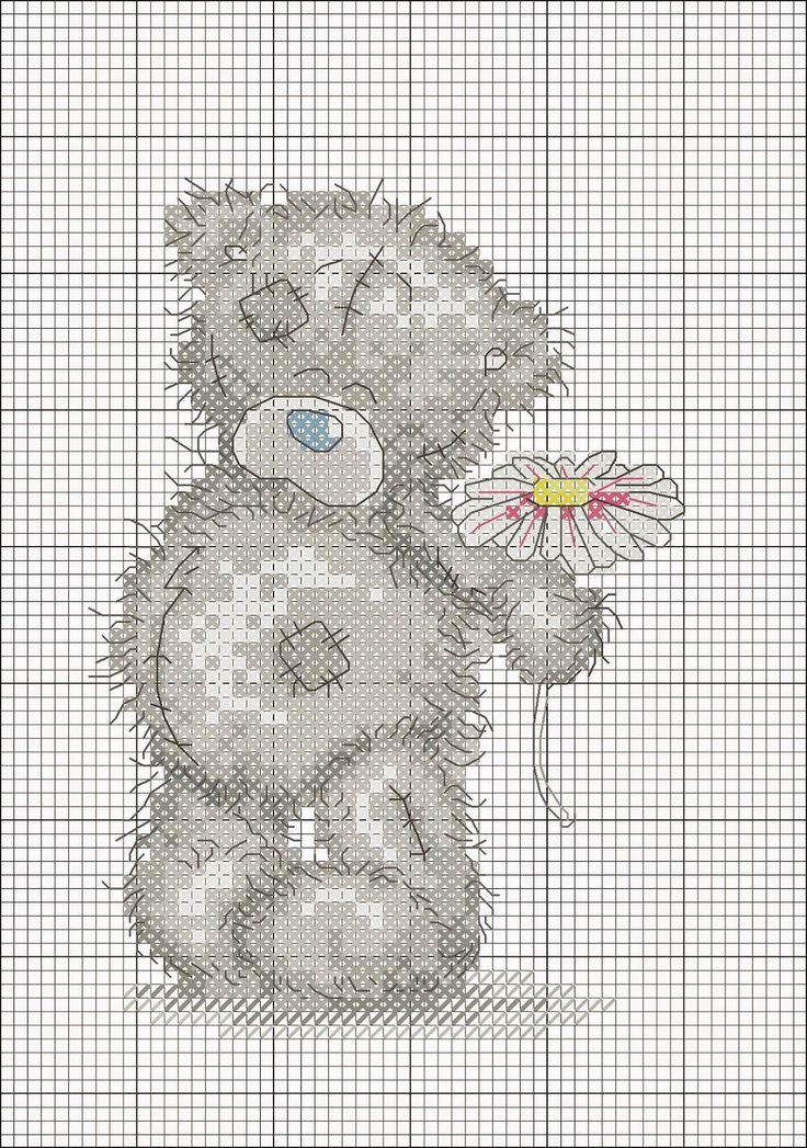 Схема вышивки медвежонка тедди