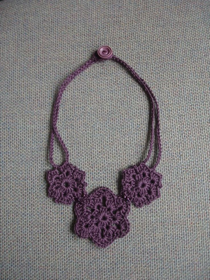 Crochet Patterns Jewelry : Crochet necklace patterns crochet Pinterest