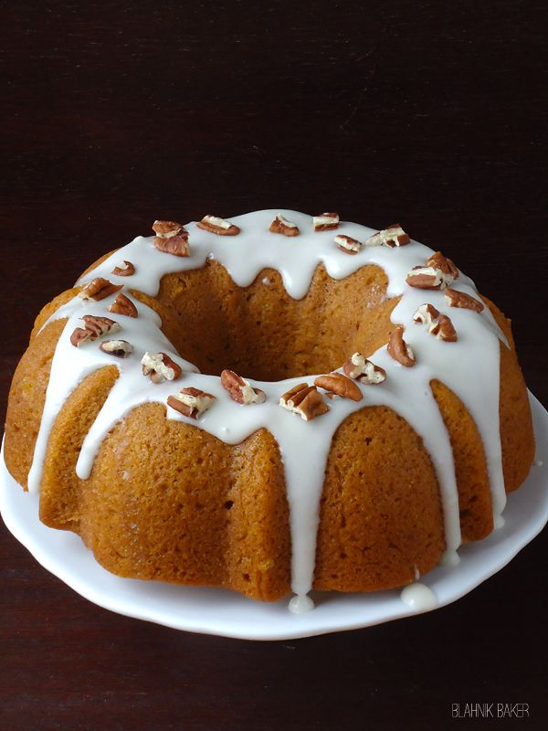 Pumpkin Bundt Cake with Bourbon Cream Cheese Frosting | Recipe