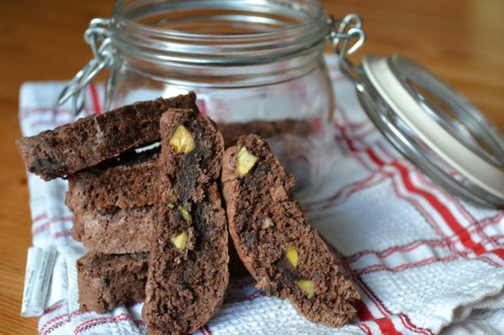 Chocolate & Pistachio Biscotti | A Canny Cook | Pinterest