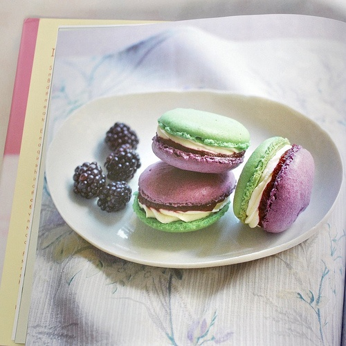 Apple & Blackberry Macarons by Annie Rigg