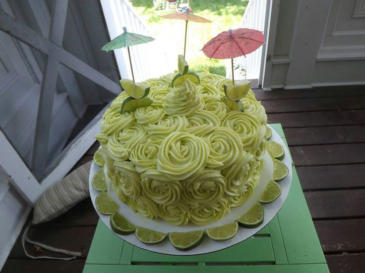 FRICKIN' YUM!!! key lime cake with key lime cream cheese icing!