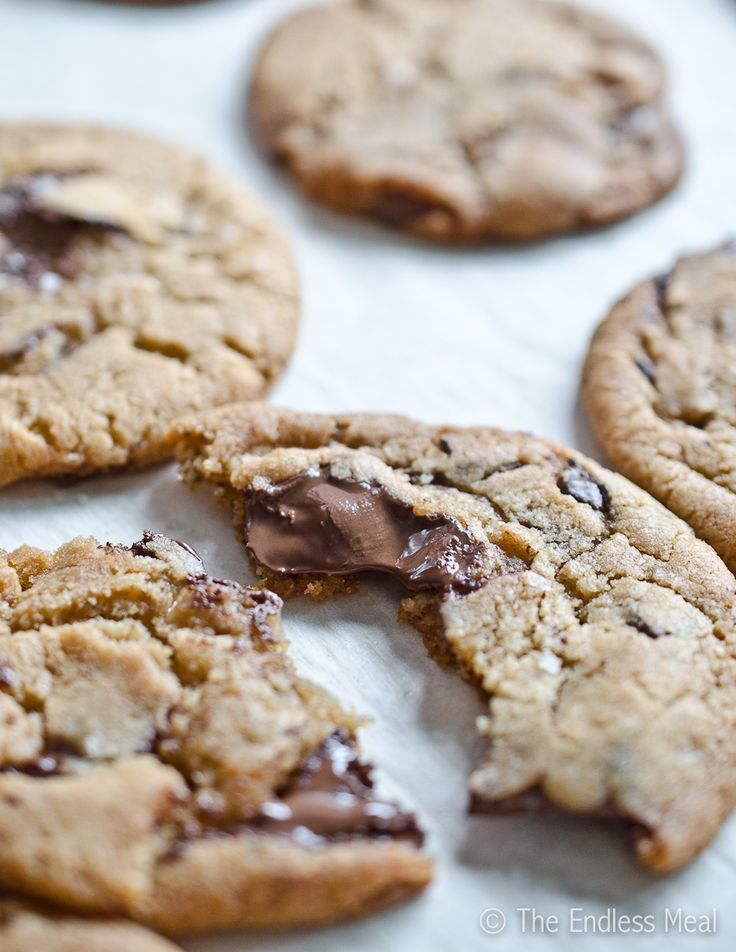 Dark Chocolate Chunk and Sea Salt Cookies by The Endless Meal