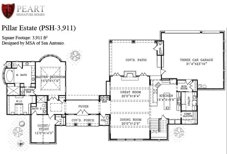Texas Hill Country Floor Plans First Story House Plans