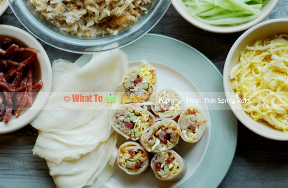 Popiah or loosely translated as fresh thin spring rolls are popular ...