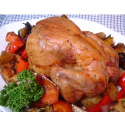 Roast Sticky Chicken-Rotisserie Style Allrecipes.com