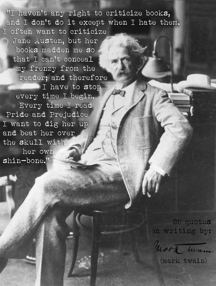 mark twain jane austen essay Mark twain was born samuel langhorne clemens on november 30, 1835 in florida, missouri, the sixth mark twain essay on jane austen of seven children born to jane (née lampton 1803–1890), a native.