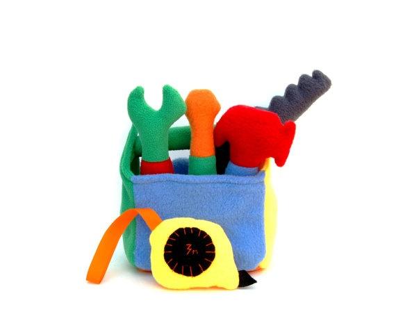 Toys For Boys Under 2 : Tool box soft toy plush felt gift for boy kids under