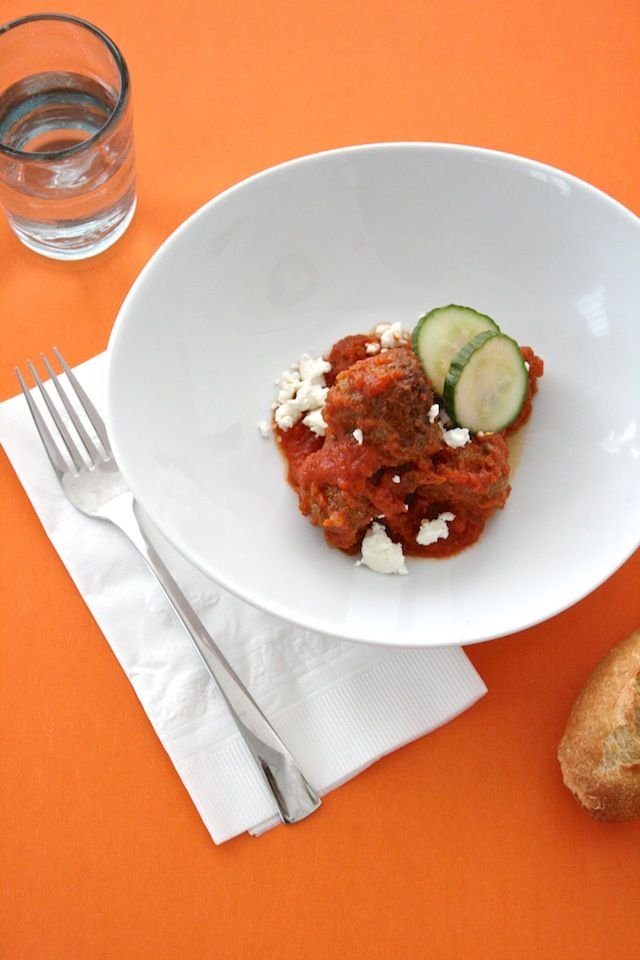 Supper: Mediterranean Lamb Meatballs with Goat Cheese & Cucumbers