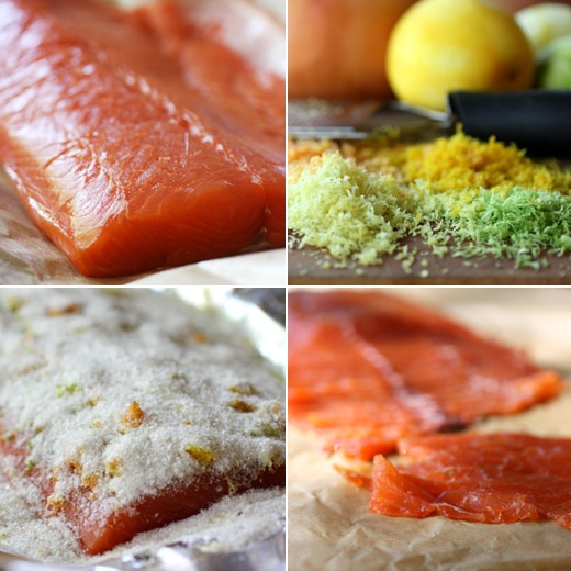 Citrus cured salmon, for the next time we have salmon straight from ...