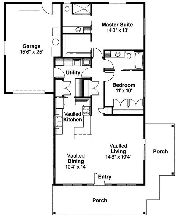 Bungalow Craftsman House Plan 69667