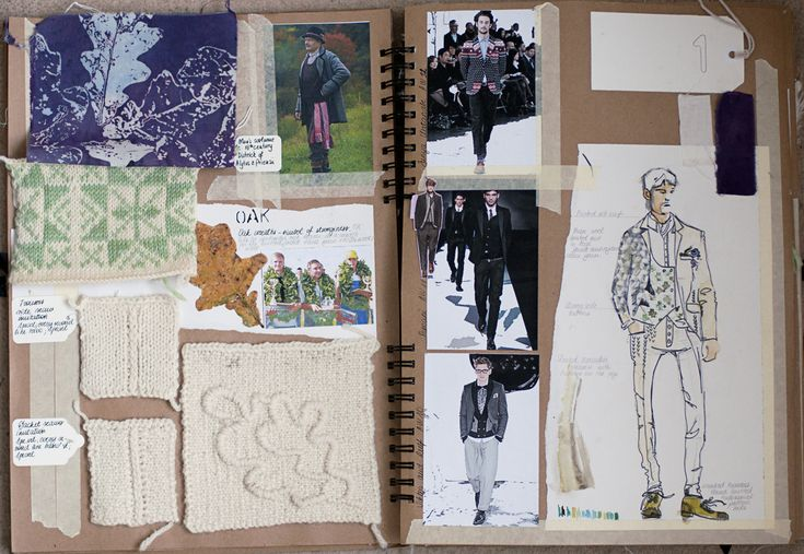 Fashion Sketchbook Drawings And Fabric Samples The