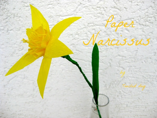 how to make a paper narcissus flower