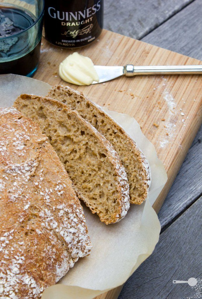 Guinness bread for St Patty's Day - no kneading necessary! One of the ...