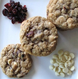 white chocolate chip cookies brandied cranberry white chocolate chip ...