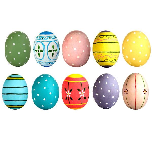 Hand painted wooden easter eggs eggs pinterest - Painted wooden easter eggs ...