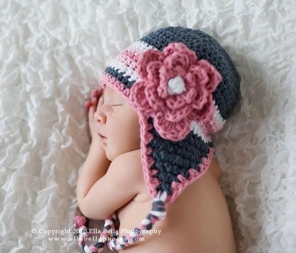 Crochet Hat Pattern Baby Crochet Hat Earflap Beanie with ...