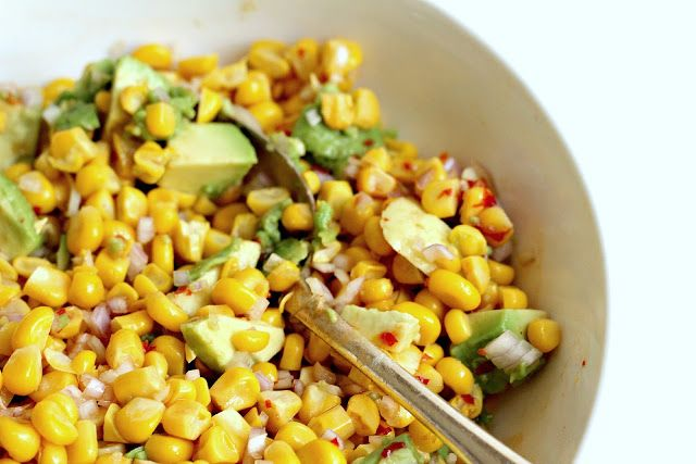 Milk and Honey: Corn and Avocado Salsa   Salad   Pinterest