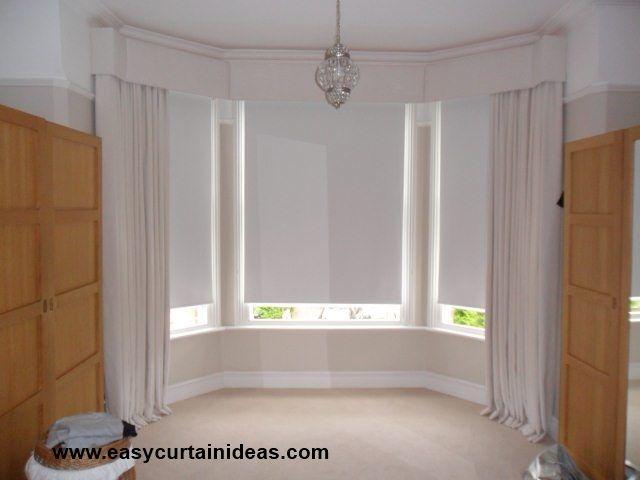 Designer cornice bay window treatment diy crafts - Bay window dressings ideas ...