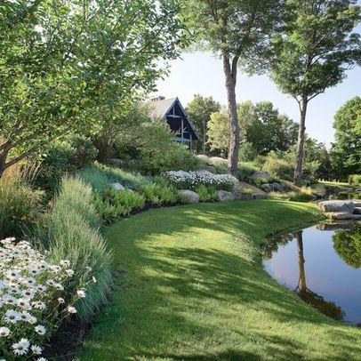 Landscaping around pond garden pinterest for Landscaping around ponds