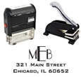 Designer Address, Monogram and Book Rubber Stamps and Embossers from schwaab.com.  Choose from over 50 designs.  An Excellent Gift Idea!