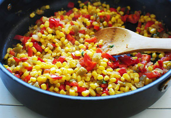 Vegetable Chili With Sweet Potatoes, Red Peppers And Fresh Corn Recipe ...