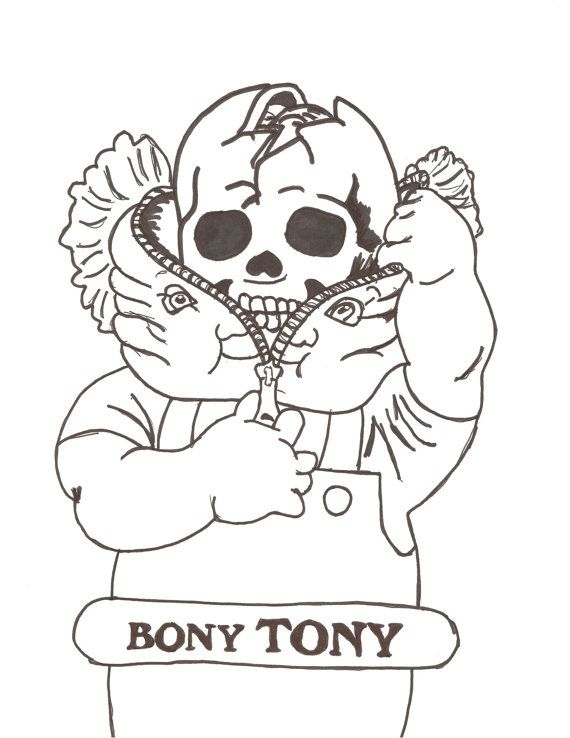garbage pail kids coloring pages - photo#1