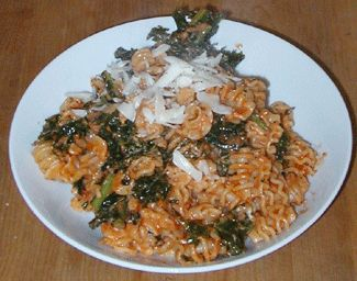 Kale and Pasta with Creamy Tomato Sauce | Pasta Noms | Pinterest