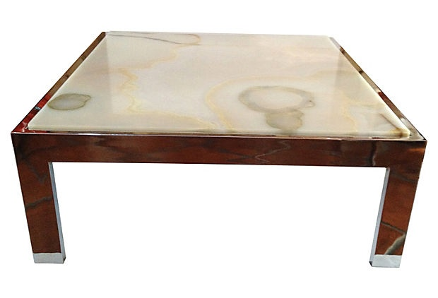 Onyx Top Coffee Table On
