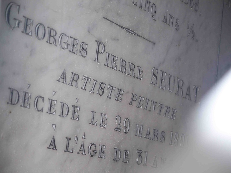 Grave Marker- Georges Seurat, (2 of 2)