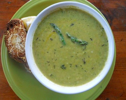 ... asparagus and ramp soup with yogurt asparagus soup with crab crostini