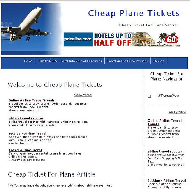 website for cheap airline tickets