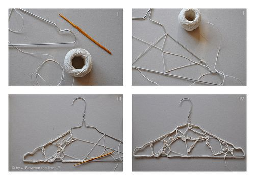 Crocheting On A Hanger : crochet and a hanger. It is a cute idea, too much work for a hanger ...