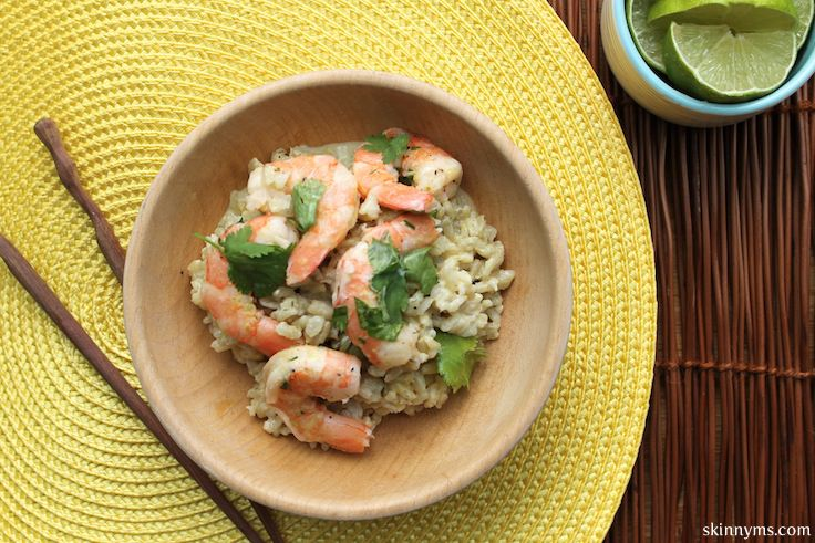Green Curry Shrimp in Coconut Broth, yum yum! #skinnyms, #shrimprecipe ...