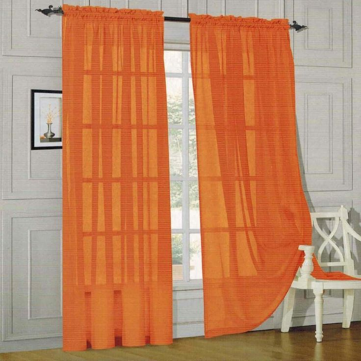 Burnt Orange Curtain Panels Pastel Green Sheer Curtains