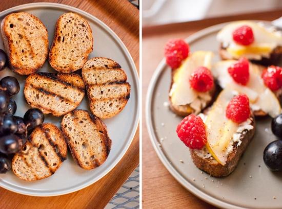 Grilled Pear, Goat Cheese & Prosciutto Crostini Recipe ...