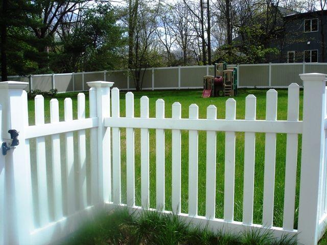 Pin scalloped picket fence fairway vinyl systems custom on