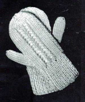 Mitten Knitting Pattern 4 Needles : CHILDREN S 2 NEEDLE KNITTED MITTEN PATTERNS DESIGNS & PATTERNS