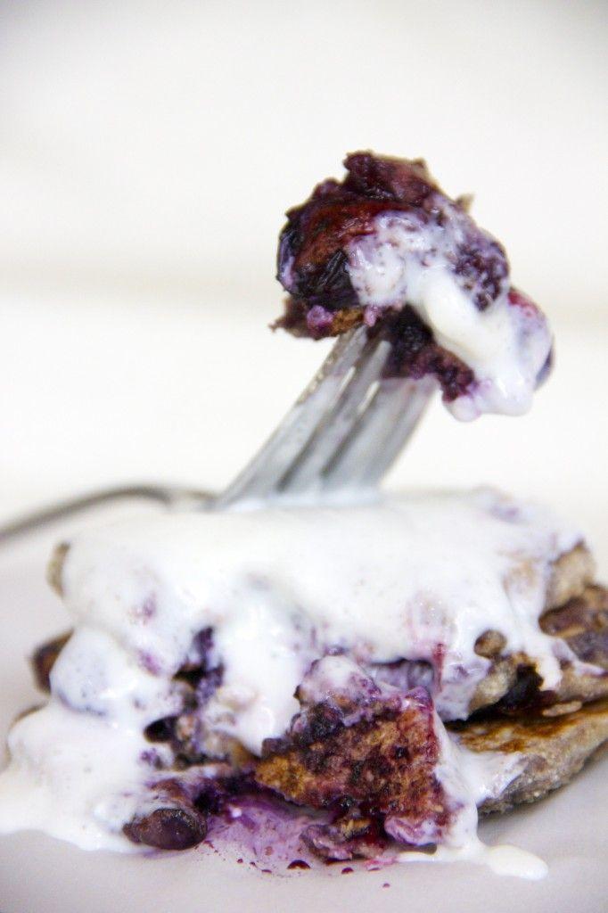 Blueberry Cheesecake Pancakes!